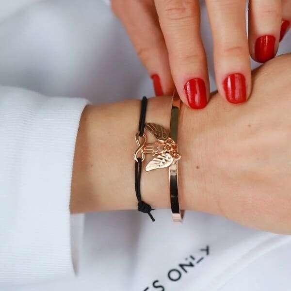 Minimalistisch Infinity Armbandje Rose Goud