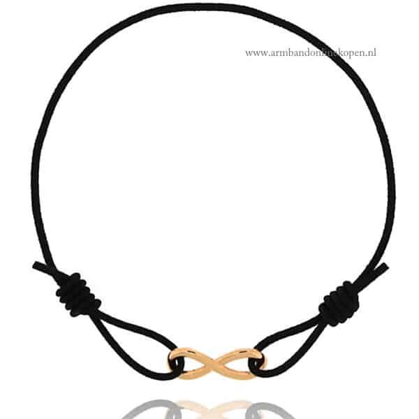 Minimalistisch Infinity Symbool Armbandje Rose Goud
