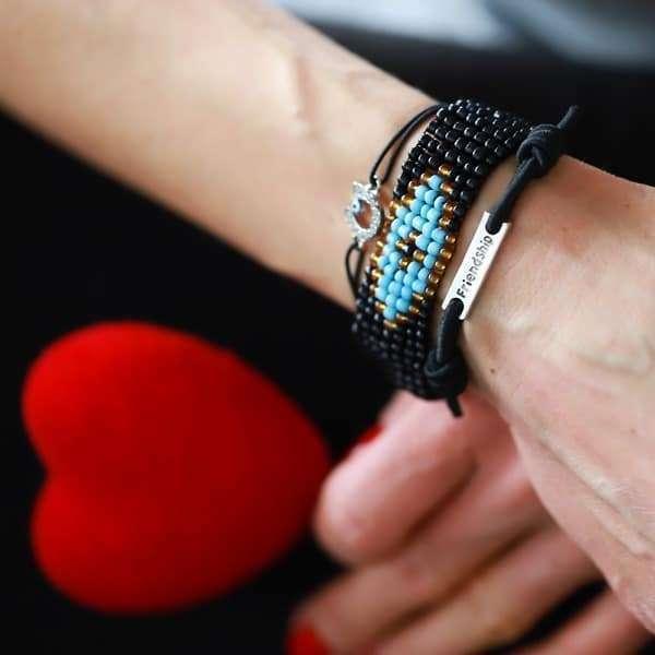good vibes vriendschaps armband