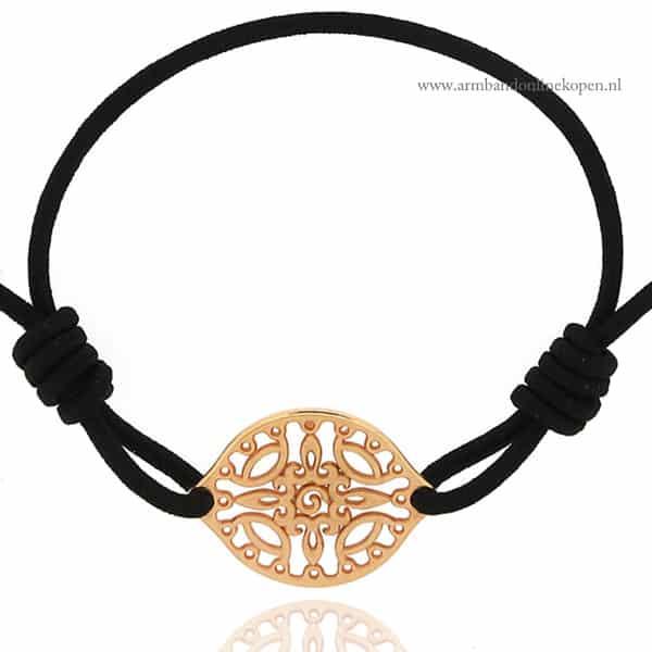 Bohemian Baroque Ornament Filigree Bracelet Rose Goud