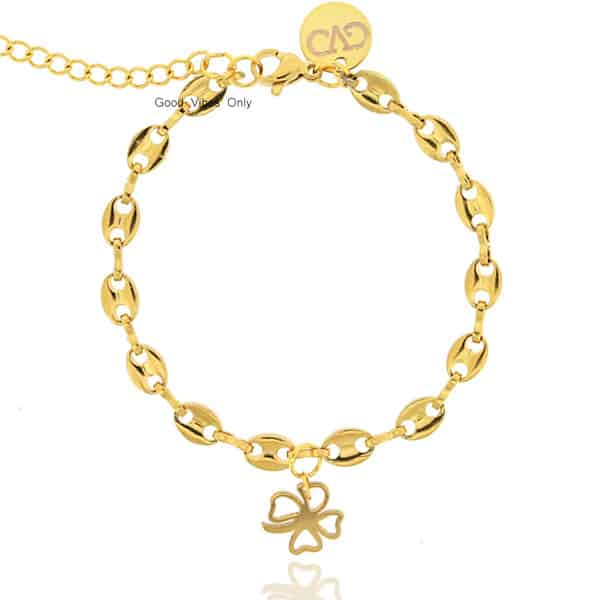 Lucky Chain Good Vibes Only Armband Goud