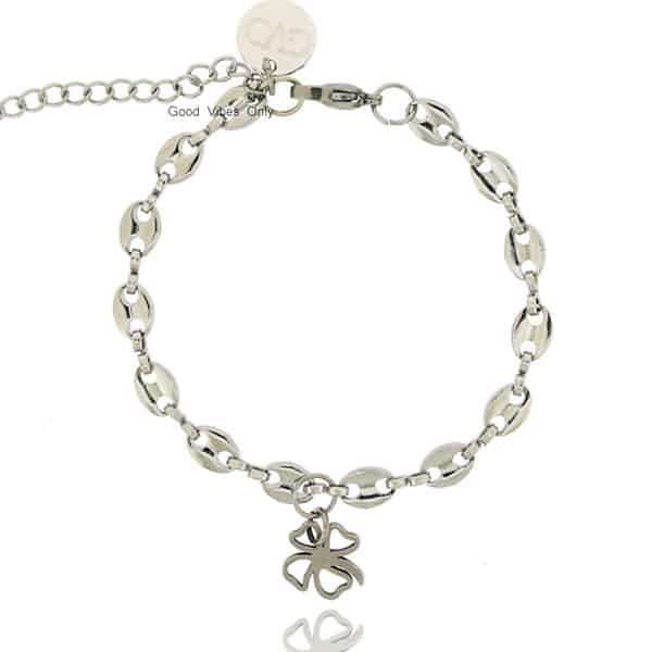 Lucky Chain Good Vibes Only Armband Zilver