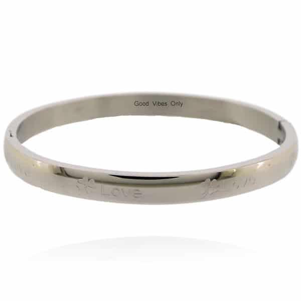 armband dames zilver klaver vier love