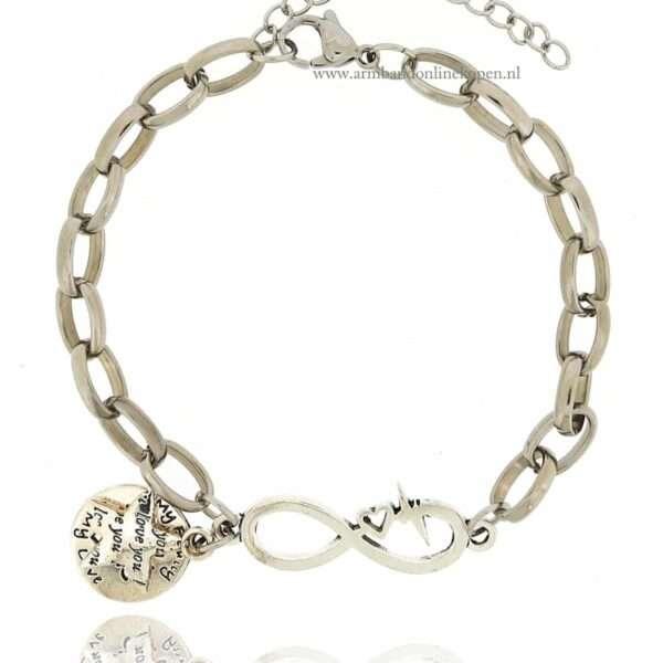 armband infinity levensboom family bedel zilver