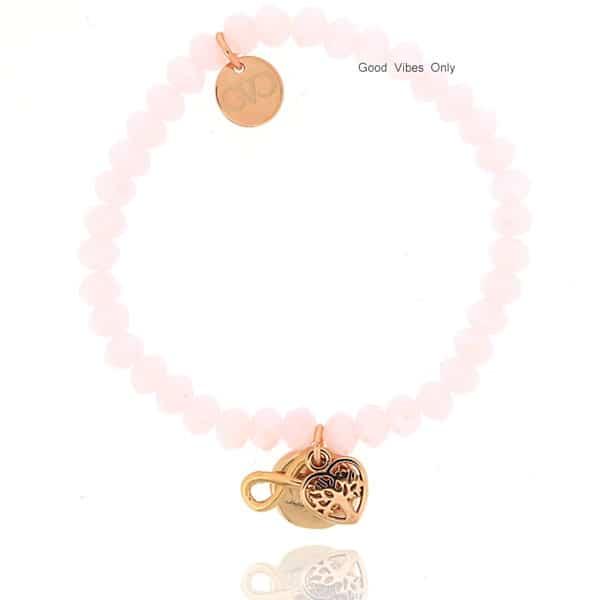 zussen kralen armband rose goud infinity levensboom sisters liefde bedels