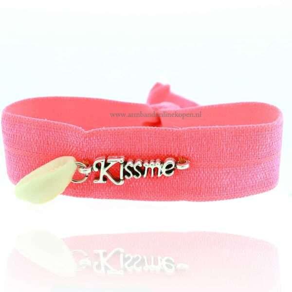 Kiss Me Summer Armbandje Neon Perzik