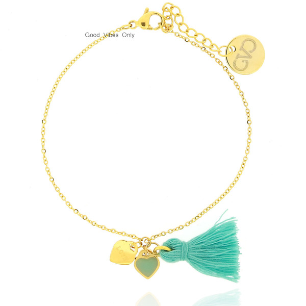 Great Love and Miracles Bracelet Gold