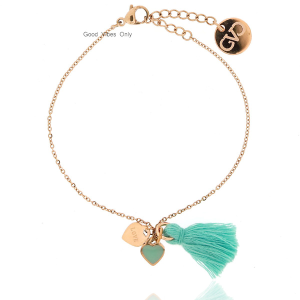 Great Love and Miracles Bracelet Rose Gold
